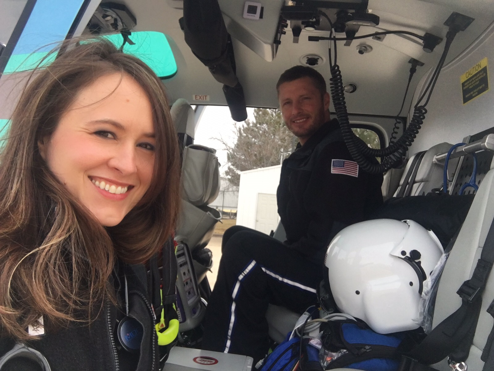 CareConnect Flight Nurse Laura Acker and Flight Paramedic Ephron Brent.
