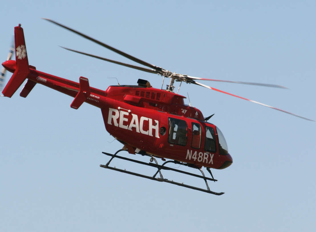 REACH 2 departs on a call.